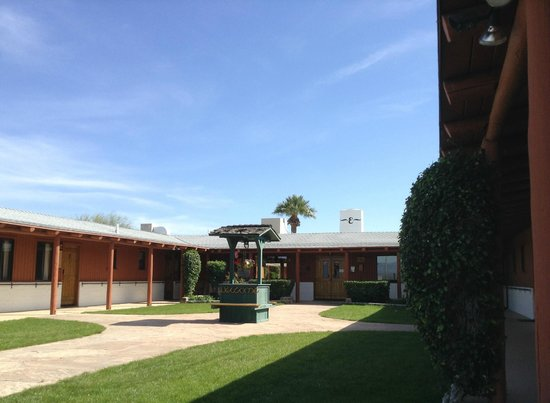 Courtyard at the Flying E Ranch