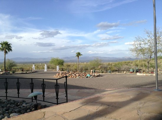 View of the mountains from the Flying E Ranch