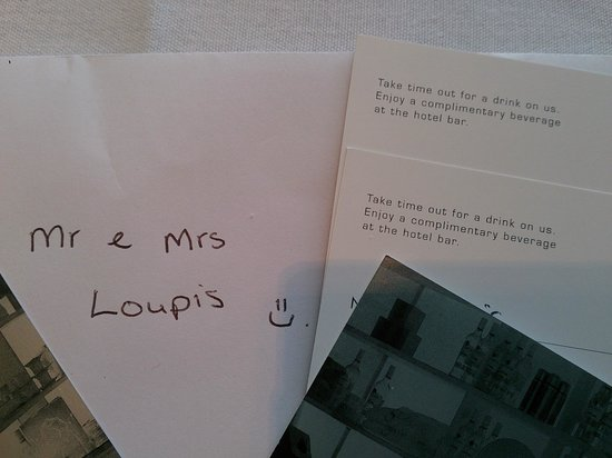 Pullman at Sydney Olympic Park: Lovely welcome note