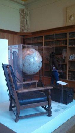 Maryhill Museum of Art: Sam hills items. globe from 1920s