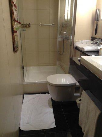 Sheraton Zurich Neues Schloss Hotel: Das kleine Badezimmer