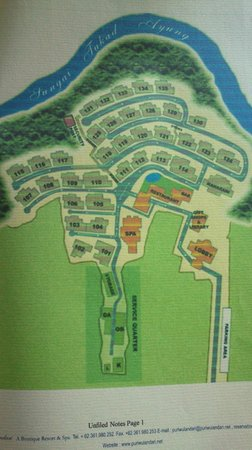 Puri Wulandari Boutique Resort: Hotel map