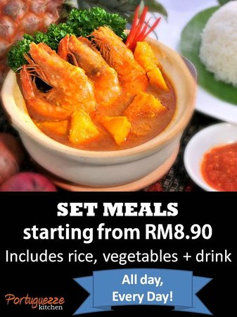 Portuguezze Kitchen : Set meals (rice + vegetables + drink) starting from only RM8.90!