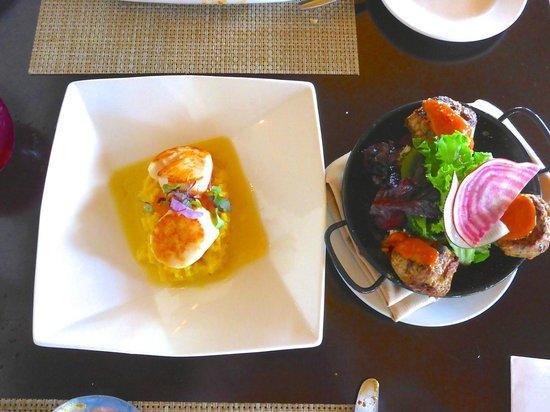 Josselin's Tapas Bar & Grill: Scallops & Lamb dishes