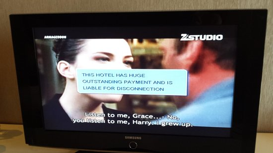 Piccadily Hotel New Delhi: Random pop up from the hotel's cable provider