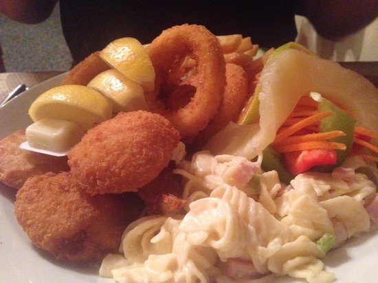 New  Crown Hotel: Seafood platter