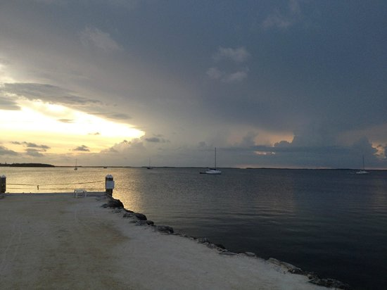 Bayside Inn Key Largo: Вид с пирса