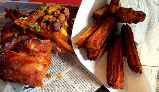 Queen's Head by Cafe Oz : Travers de porc mariné à notre façon, churros de pomme de terre