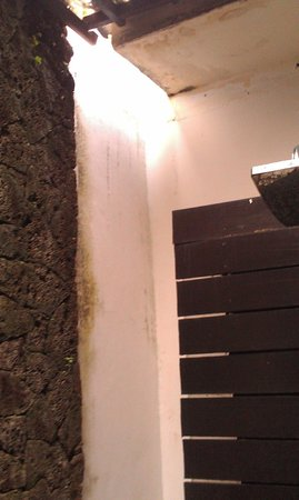 Gino Feruci Villa Lovina: Gap in bathroom roof that let thousands of mozzies in