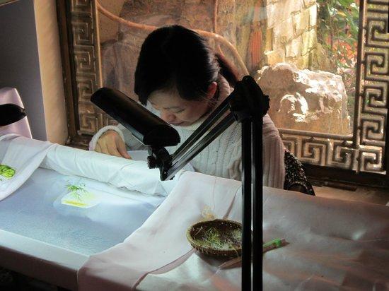 XQ Vietnam : Фабрика шелковых картин Далат