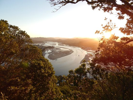 Mount Paku : View down over the inlet.