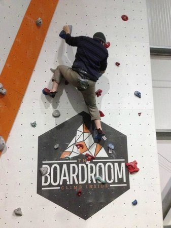 The Boardroom Climbing: Bouldering wall