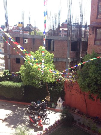 Hotel Horizon: New prayer flags from balcony