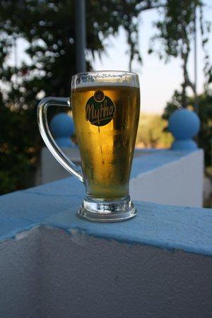 Dionysia Studios: birra in giardino