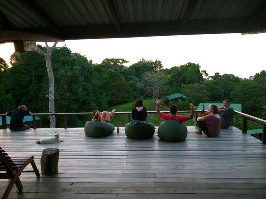 Finca Maresia : descansando en la recepcion