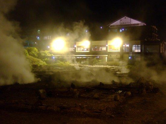 Kyushu Hotel: 地獄の煙が立ち込める