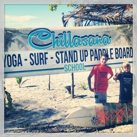 Playa Carrillo, Costa Rica: local kids from Chillasana Surf Team.
