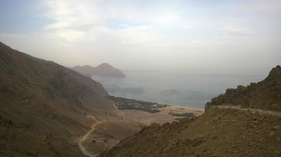 Six Senses Zighy Bay: View from the drive to resort