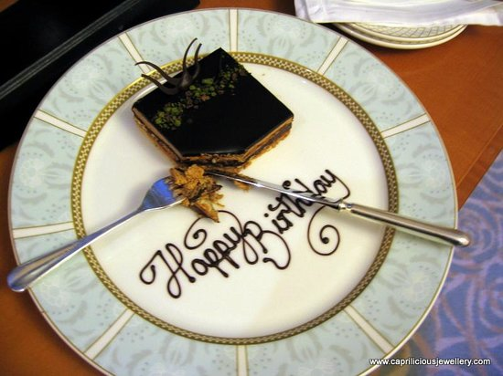The Savoy: Complimentary Birthday cake
