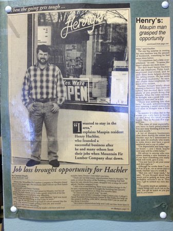 Henry's Deli-Mart: 1993 news article on business opening