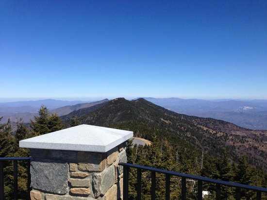 Mount Mitchell State Park: View from the observation area, on top of Mt Mitchell.