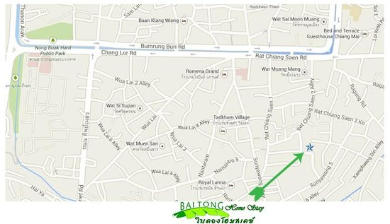 Baitong Homestay: here we are located-near to the center of Chiang Mai