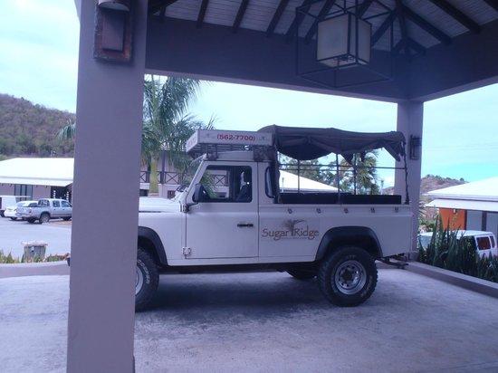 Sugar Ridge Resort: our shuttle to beach