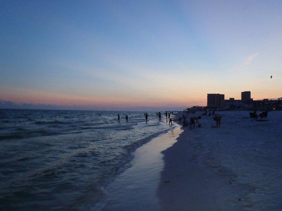 Walking along the beach outside of Camp Gulf in Destin, FL.