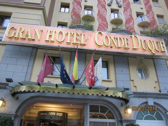 Sercotel Gran Hotel Conde Duque: Front of Hotel