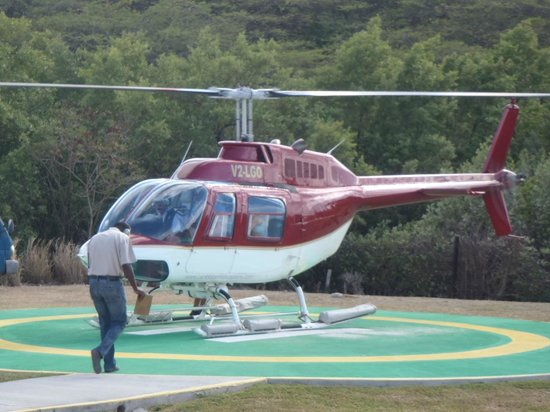 Caribbean Helicopters : Our chopper ride