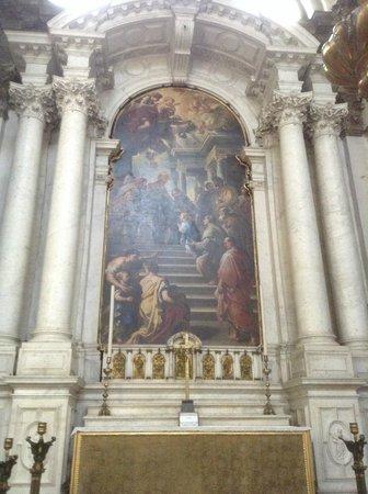 Santa Maria della Salute: one of the beautiful interior paintings