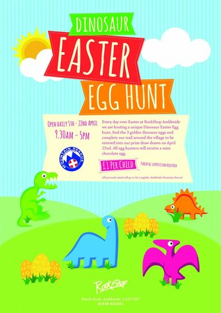 RockShop: Dinosaur Easter Egg Hunt  5th - 22nd April 2014