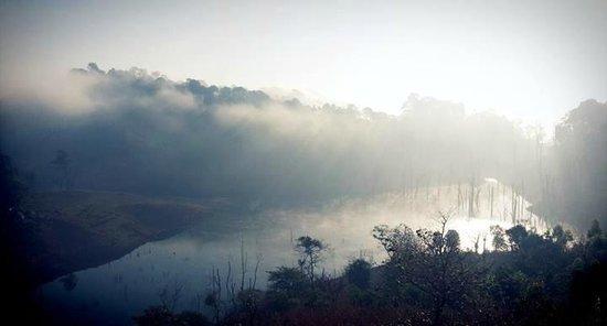 Banasura Island Resort : Early morning misty view