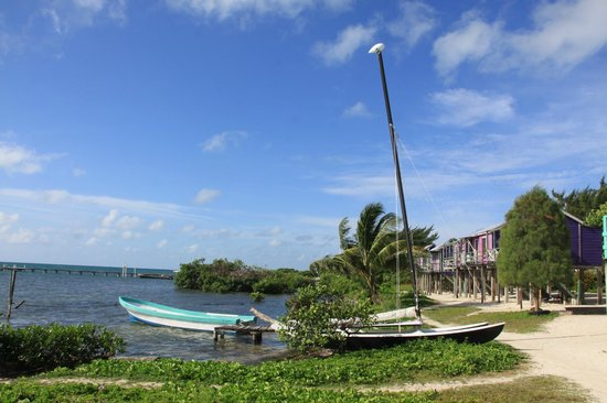 Ignacio's Cabins: Walk along beach until you get to the Hobie Cat