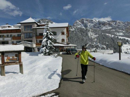 Granvara Relais & Spa Hotel: 50 m bis zum Skianschnallen