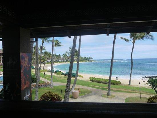 Sheraton Kauai Resort: Vista spiaggia appena arrivati -stupenda !