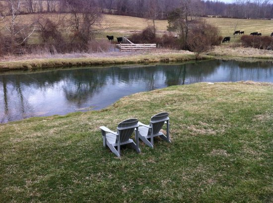 Alpine Hideaway : By the Pond - perfect chairs for relaxing!