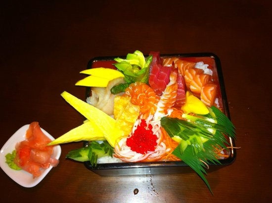 Ta'ke Sushi: sashimi on rice