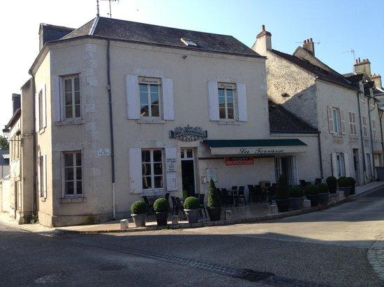 Meung-sur-Loire, Prancis: la terrasse