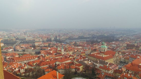 Veitsdom (Chram svatého Víta): The view from the top of the cathedral