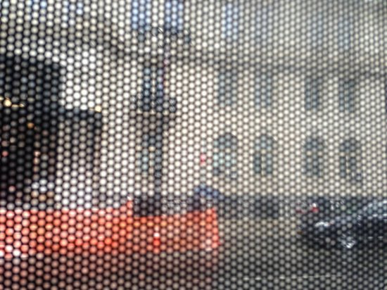Gray Line New York Sightseeing: The obscured view from the lower level of the bus