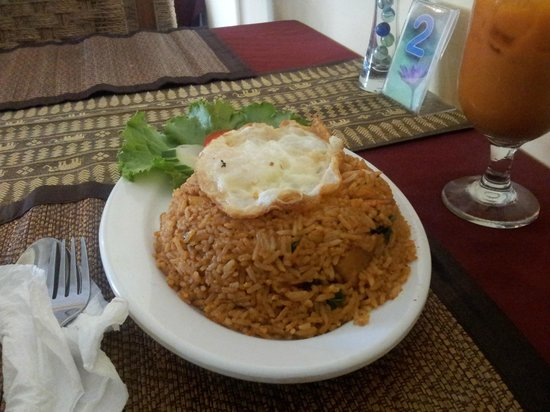 Zion Thai Restaurant: red curry fried rice