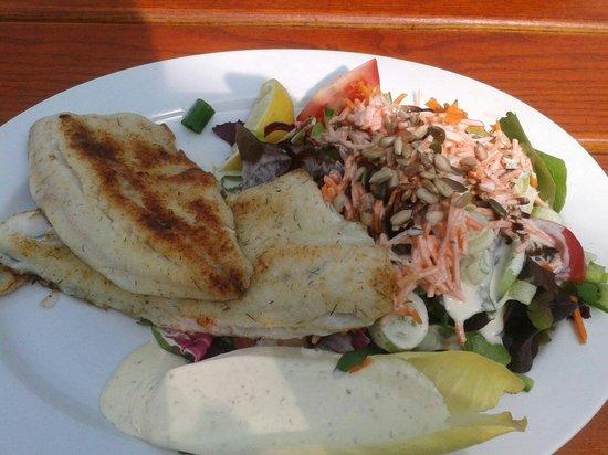 Riebels: Zander und Felchen mit Salat