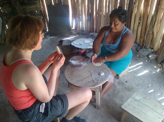 Genesis Eco-Oasis: Tortilla making with local neighbour