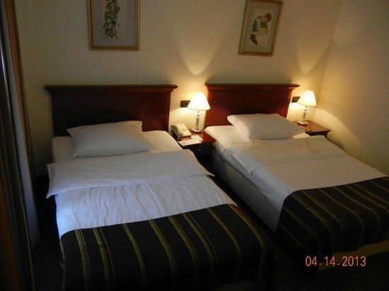 2 single beds  - Hotel Dubrovnik, Zagreb Croatia