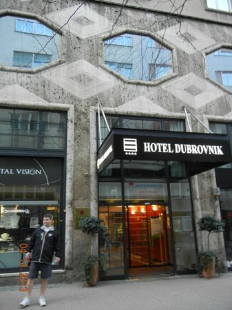 Entrance - Hotel Dubrovnik, Zagreb Croatia