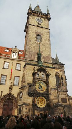 Old Town Hall and Astronomical Clock : The clock and tower