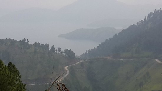 North Sumatra, Endonezya: Lake  toba  from  Menara Tele