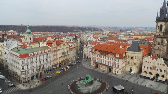 Old Town Hall and Astronomical Clock : The view from the top of the tower