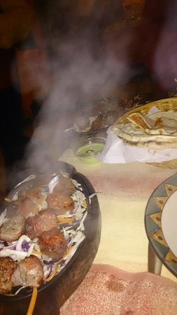Namaste India Ristorante : Kebab tanduri with mixed indian bread